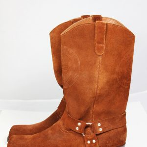 Kavbojski škornji semiš od strani